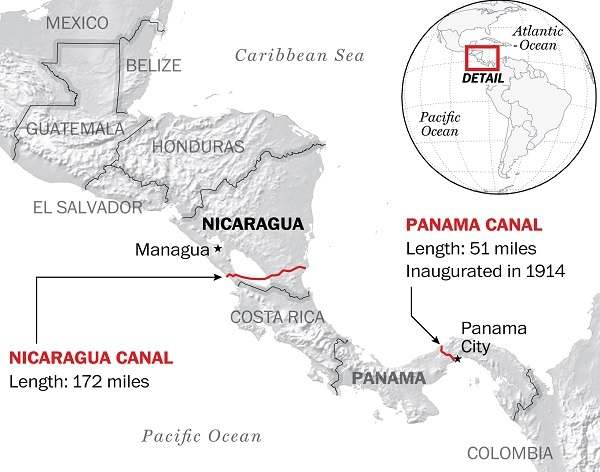 Nicaragua Starts Construction Of Canal To Compete With Panama