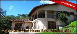 Volcan Baru View House for Sale in Jaramillo